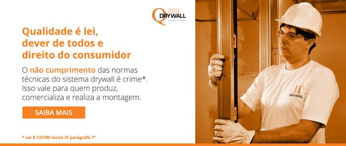 Vender componente para drywall fora da norma é crime